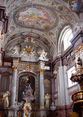 High Altar (earthmagnified) Tags: church architecture choir europe interior kirche ceiling nave slovakia baroque eastern fresco bratislava stucco rococo rococco