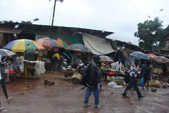 Shopping market in Liberia