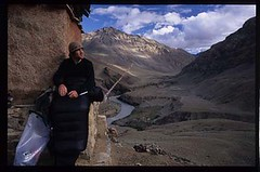 a sleeping spot with a view on the Zanskar