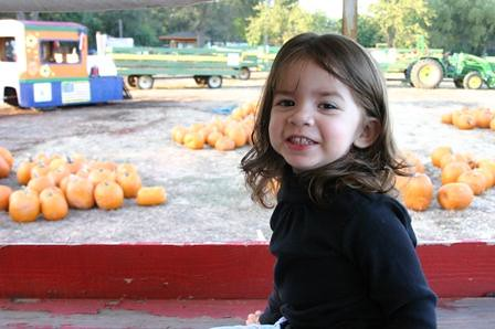 Shaye in pumpkin patch 2006