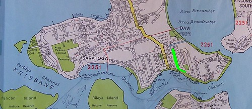 Saratoga Davistown map with Davis Ave marked