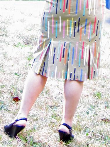 pencil skirt back