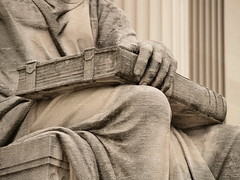 "Closed Book With Clasps On The Lap Of Robert Ingersoll Aitken's ""Past,"" On The North Side Of The National Archives (Washington, DC) (takomabibelot) Tags: sculpture geotagged book washingtondc dc hand roman lap pennsylvaniaavenue limestone confucius knee past nationalarchives 1935 clasps johnrussellpope studythepast piccirillibrothers robertingersollaitken geo:lat=388933 geo:lon=77023183"
