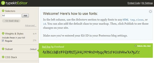 Posterous Font