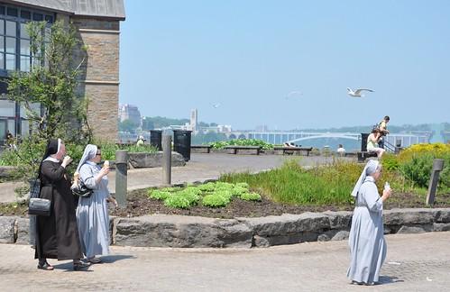 nuns eating ice cream