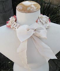 Шелковые цветы Ожерелье DIY-BACK