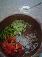 Preparando la ensalada