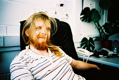 danny fontaine (lomokev) Tags: portrait man male smile hair beard happy person lomo lca xpro lomography crossprocessed xprocess lomolca human agfa jessops100asaslidefilm agfaprecisa lomograph agfaprecisa100 precisa jessopsslidefilm dannyfontaine roll:name=070423lomolcaplus file:name=070423lomolcaplus70