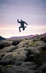 (júlía ∆) Tags: camping sunset mountains canon iceland moss jump near midnight 5d after reykjavík þingvellir hugi hlynsson