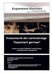 cartell presentacio Espantant gavines