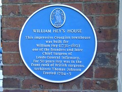 Photo of William Hey blue plaque