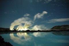 Blue Lagoon (tom wolbers) Tags: blue reflection night lagoon moonlight 2007 worldphotodoc2007