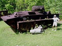Amphibious Tank (philarcher0615) Tags: pacific battle worldwarii palau relics amphibious peleliu ustank