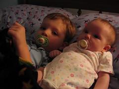 Eli and Liza and binkies