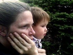 Heather and Zeke looking out at the world (cropped)