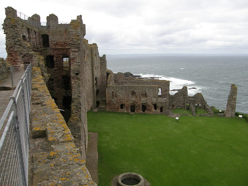 The inner yard of castle Tantallon