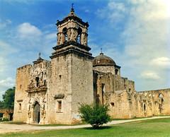 San Jose Mission Church, San Antonio (StevenM_61) Tags: church architecture sanantonio catholic texas belltower mission baroque spanishcolonial