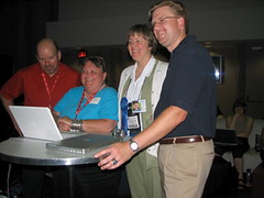 Audience members at WOW2 Webcast - NECC 2007