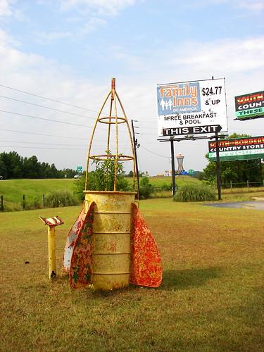 A rusty rocket