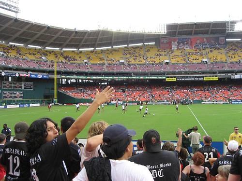 Amongst DC Uniteds Barra Brava fanclub