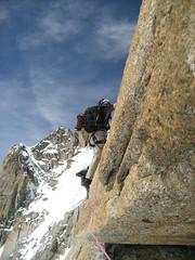 Climbing Aiguille du Midi (climberchica) Tags: rockclimbing aiguilledumidi