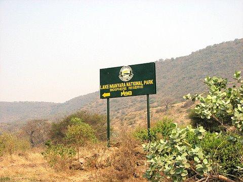 Lake manyara sign