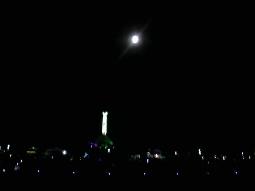 burning man and moon