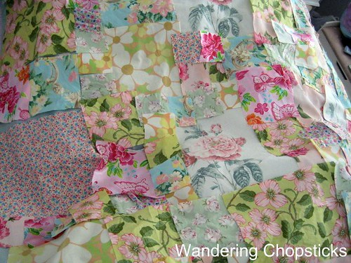 Frowsy Flowery Quilt 11