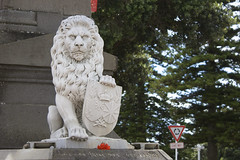 Art Deco Napier (russelljsmith) Tags: city travel flowers red newzealand vacation holiday history monument statue architecture tour arms bright coat uploaded lion artdeco napier imposing hawkesbay 2010 stoic efs1855mmf3556is