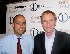 Peter Boehringer and Mike Maloney at the DEG F...