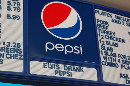Elvis Drank Pepsi, Central Barbecue, Memphis, Tenn.