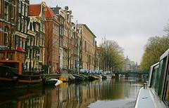 Amsterdam Canal (NicholasRalph) Tags: venice holland dutch grass amsterdam architecture boats boat canal europe italia mj canals venetian marijuana venezia nederlands annefrank italians hooch venicecanals veneto venetians amsterdamcanal veniceatnight venetiancanals venetiancanal