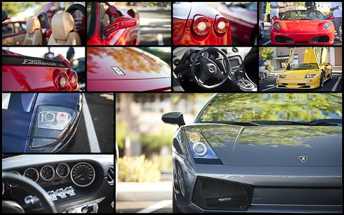 Cars and Coffee Collage