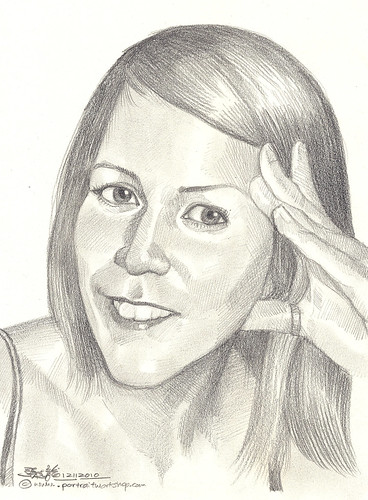 lady portrait in pencil 12112010