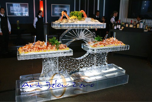 3 level Seafood Table ice sculpture