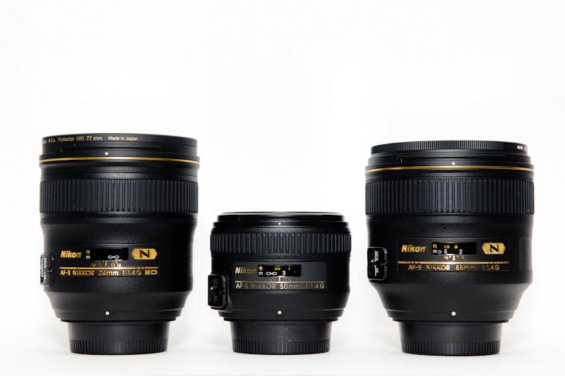 Nikon Fast Prime Trinty Setup