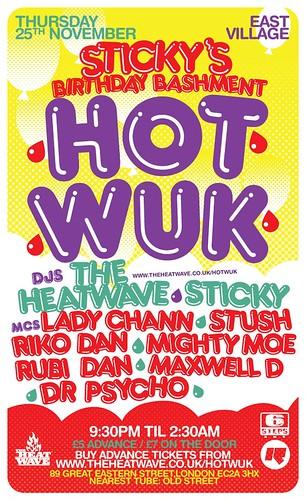 Hot Wuk - Sticky's Birthday Bashment