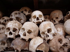 Skulls (P1150208) (GlobalGoebel) Tags: skulls skeleton death memorial asia cambodia killing pot human torture fields phnompenh southeast genocide remains skeletal phnom penh killingfields pol indochina polpot