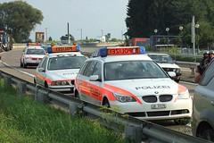 Swiss Police on Freeway (Kecko) Tags: car schweiz switzerland suisse motorway accident swiss strasse stmargrethen police kecko ostschweiz autobahn freeway sg svizzera rheintal verkehr polizei 2007 unfall a13 blaulicht swissphoto rheintalbild