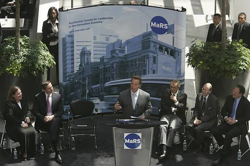 Gov. Schwarzenegger speaks @ MaRS