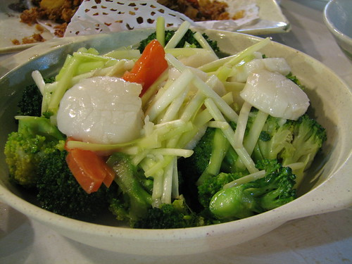 vegetable and scallop stir-fry