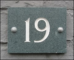 """""""19"""" (Lincolnian (Brian) - BUSY, in and out) Tags: england house lincolnshire number lincoln abc 19 50club aplusphoto"""