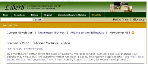 Liber8 Newsletter on SubPrime