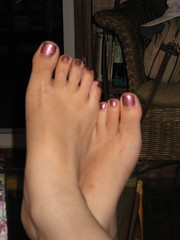 Pedicure (chicgeekuk) Tags: laura feet toes purple pedicure kishimoto laurakishimoto laurakishimotoca