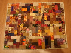Four seasons doll quilt - Fall