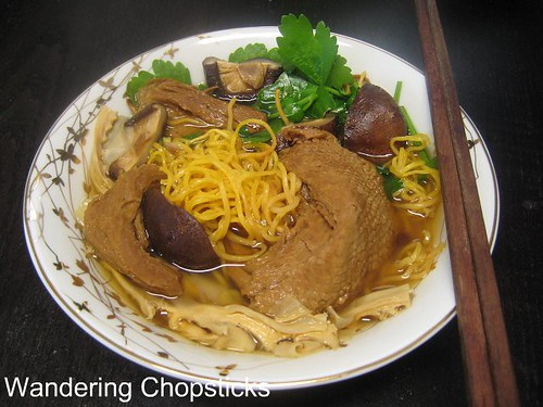 Mi Vit Tiem Chay (Vietnamese Vegetarian Chinese Five-Spice Duck Soup with Egg Noodles) 8