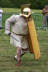Gladiator! (raggi di sole) Tags: england yorkshire games sword shield recreation romanempire malton romans gladiator derventio orchardfields maltonromanfestival2010