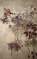 Anemone (ChisakoFukuyama) Tags: plant flores flower detail art garden painting botanical japanese drawing mixedmedia anemone mysterious wabi sabi withering impermanency