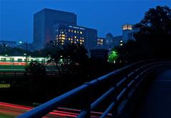 The Liberty Hotel (with red line train) (iMatthew) Tags: longexposure boston night haze esplanade lighttrails hazy redline longfellowbridge bostonist universalhub smokeyskies thelibertyhotel smokemonsieurquebecalyps