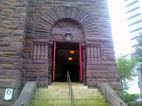 Front door - First Church Birmingham. acnatta/Flickr